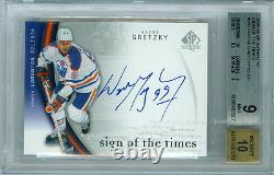 1999-00 Sp Authentic Gold Wayne Gretzky Sp Auto Sign Of The Times 14/25