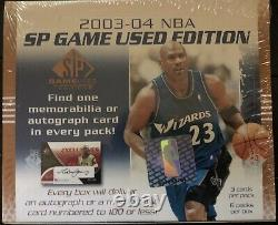 2003-04 Upper Deck SP Game Used Basketball Hobby Box Factory Sealed