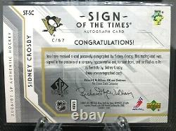 2006-07 Sidney Crosby Sp Authentic Sign Of The Times Auto Sp 2nd Year Gem St-sc