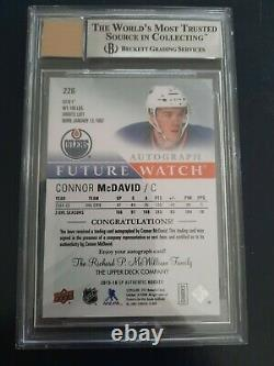 2015-16 UD SP Authentic Connor McDavid Future Watch Auto Rookie BGS 9 MINT