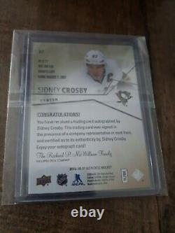 2015-16 Upper deck SP Authentic Limited Auto Sidney Crosby #'d 22/25