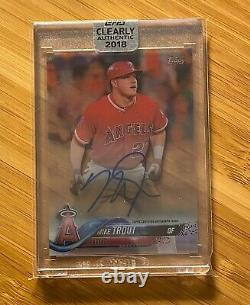 2018 Topps Clearly Authentic MIKE TROUT On-Card Auto Autograph ANGELS