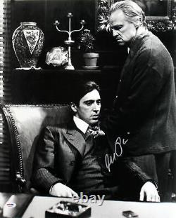 Al Pacino Godfather Signed Authentic 16X20 Photo With Brando PSA ITP #4A98748