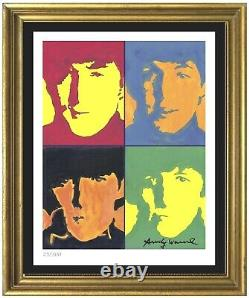 Andy Warhol Beatles Authentic Signed & Numbered Limited Ed Print (unframed)