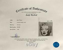Andy Warhol Original Print Signed with Certificate Of Authenticity $6750 Value