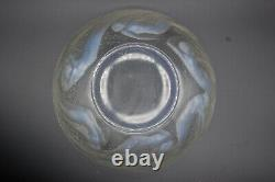Antique Vintage Authentic 1935 Rene Lalique Ondines Bowl Signed & Stamped
