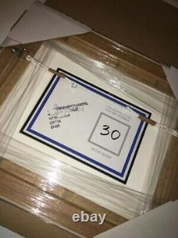 Authentic Stik NHS Entry Card Signed Stamped And Framed A Real Collectors Item