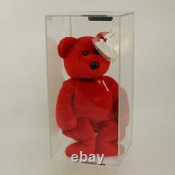 Authenticated TY Beanie Baby #1 BEAR (Signed by TY Warner #98 of 253) MWNMTs