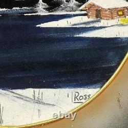 BOB ROSS Original Painting Gold Pan Signed, Certified Authentic RARE! COA 1of1