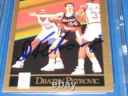 DRAZEN PETROVIC Signed 1990-91 SKYBOX ROOKIE Card #237 Beckett Authenticated
