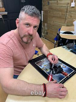 Darth Maul A3 Poster Signed by Ray Park 100% Authentic With COA