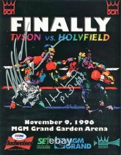 Evander Holyfield & Mike Tyson Authentic Signed 1996 Fight Program PSA/DNA ITP