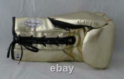 Floyd Mayweather Autographed Gold Cleto Reyes Boxing Glove Beckett Authentic