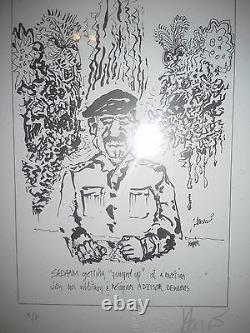 Jerry Garcia hand signed work Sadaam Certificate of Authenticity Artist Proof