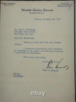 John Kennedy Jfk Signed 1953 Letter Psa/dna Certified Authentic Autographed Rare