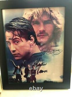 Keanu Reeves And Patrick Swayze Point Break Signed Authentic 8x10 Photo
