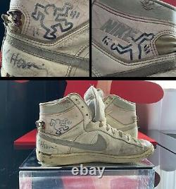 Keith Haring Hand Drawn & Signed Nike's @ Pop Shop NYC Opening Authentic 1986