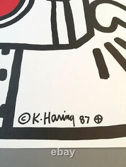 Keith Haring'Lucky Strike I (White)' 1987 Rare Original Plate Signed Poster