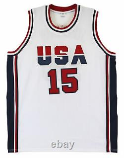 Lakers Magic Johnson Team USA Authentic Signed White Jersey BAS Witnessed