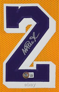 Magic Johnson Authentic Signed Yellow Pro Style Jersey Autographed BAS Witnessed