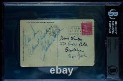 Marilyn Monroe Autographed PostCard. Double Authenticated JSA & Beckett, C. 1952