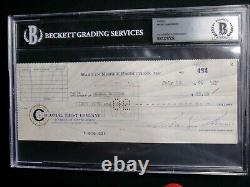 Marilyn Monroe Signed 1960 Check Beckett Certified Authentic Autographed Rare