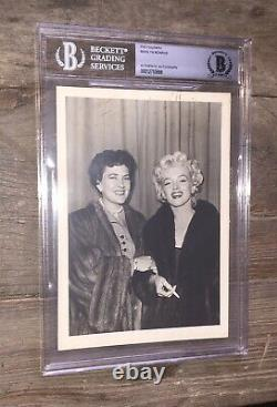 Marilyn Monroe Signed Photo Beckett Authentic Bas