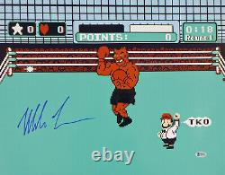 Mike Tyson Authentic Autographed Signed 16x20 Photo Punch-out Beckett Bas 159679