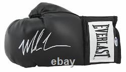 Mike Tyson Authentic Signed Black Everlast Boxing Glove with Silver Signature BAS
