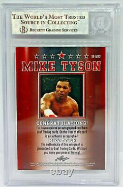 Mike Tyson Signed Leaf Trading Card #SEMT2 Beckett BAS Authentic