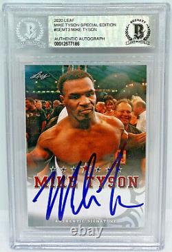 Mike Tyson Signed Leaf Trading Card #SEMT3 Beckett BAS Authentic