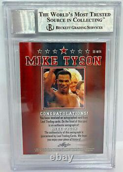 Mike Tyson Signed Leaf Trading Card #SEMT4 Beckett BAS Authentic