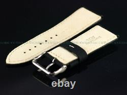 NEW AUTHENTIC Glycine 24MM High Grade XS Black Fabric Strap With Signed SS Buckle