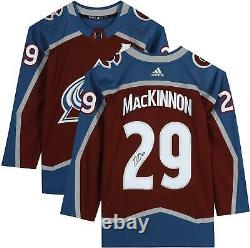 Nathan MacKinnon Colorado Avalanche Autographed Burgundy Adidas Authentic Jersey