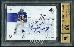 Peyton Manning 2002 Upper Deck Sp Authentic Sign Of The Times Auto Sp Bgs 9.5/10