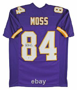 Randy Moss Authentic Signed Purple Pro Style Jersey Autographed BAS Witnessed