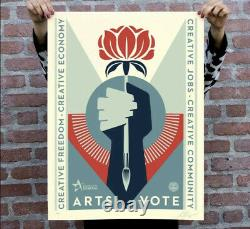 SHEPARD FAIREY ARTS VOTE SIGNED LE500 OBEY GIANT ARTSVOTE SEALED New Authentic