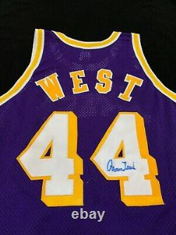 Signed Jerry West Lakers Champion Away Authentic Auto Jersey Psa/dna Autograph