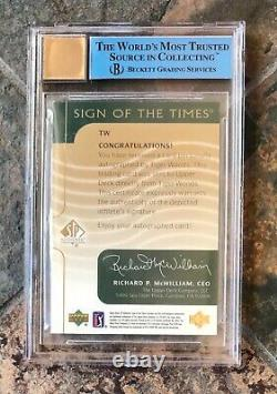 TIGER WOODS 2003 SP AUTHENTIC SIGN OF THE TIMES BGS 9 AUTO Read LOWEST ON eBay