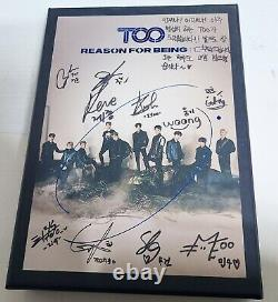 TOO TO1 Reason For Being Promo Authentic Signed +Photocard +postcard +message