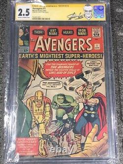 The Avengers #1 Extremely Rare Comic 1963, CGC Authenticated Signed By Stan Lee