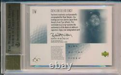 Tiger Woods 2001 SP Authentic RC Sign of the Times Autograph BGS 9.5 10 Auto