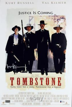 Val Kilmer Tombstone Authentic Signed 12x18 Mini Movie Poster Autographed BAS