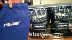 Wanderlei silva pride fc authentic red bolts autographed gloves mma ufc