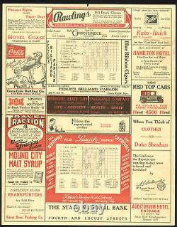 Yankees Babe Ruth Authentic Signed 7x11 1927 Program Autographed JSA #Z58725